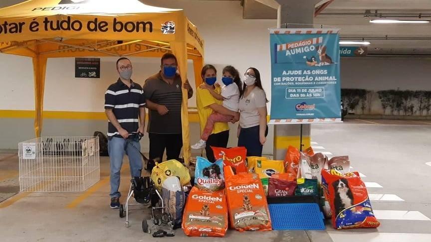 Arrecadação do Pedágio Aumigo na Cobasi São Caetano do Sul - SP