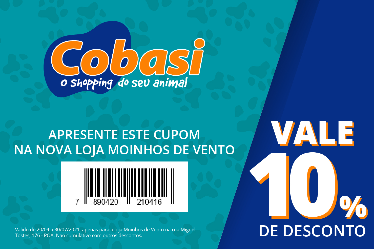 Cupom de desconto Cobasi Porto Alegre