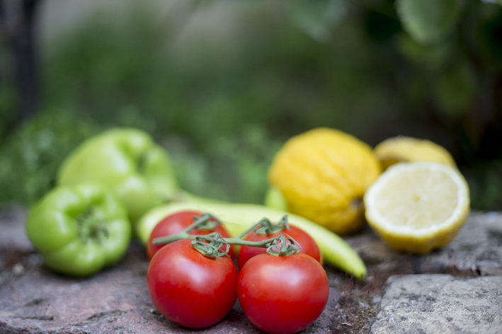Verduras orgânicas em destaque